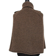 Load image into Gallery viewer, Camel Hair Turtleneck Poncho