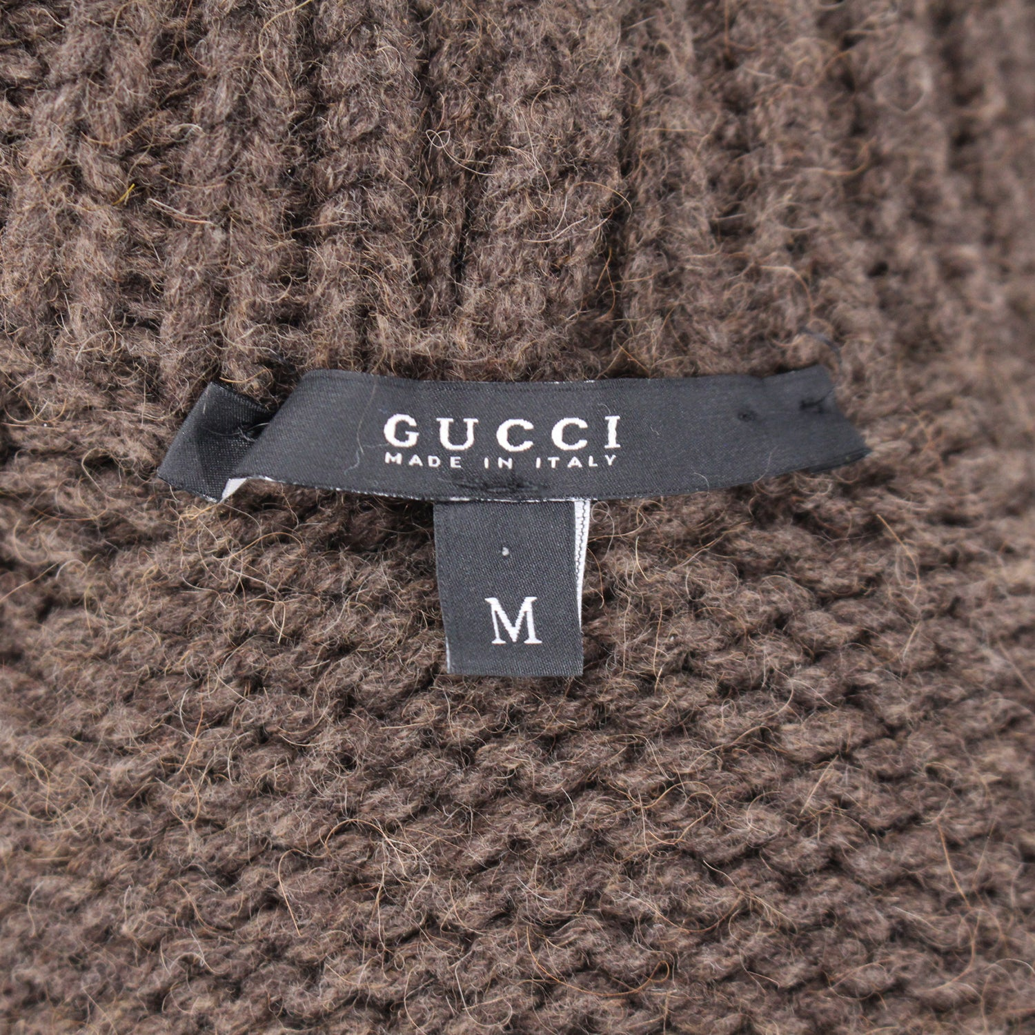Gucci Camel Hair Turtleneck Poncho