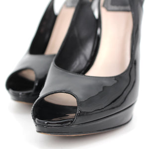Dior Miss Dior Patent Peep Toe Pumps