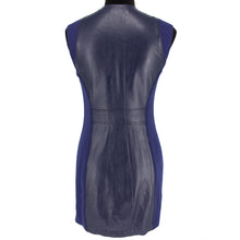 Load image into Gallery viewer, Leather Trim Zip Front Dress