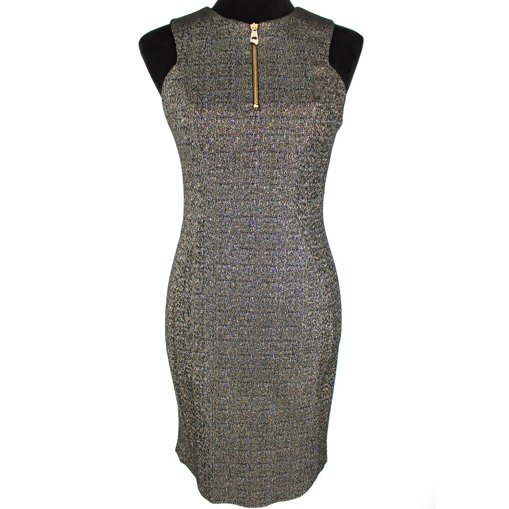 NWT Versace Collection Metallic Zip Front Dress 42