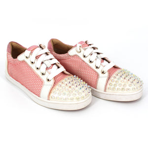 Christian Louboutin Goldolita Spikes Net Sneakers 35.5