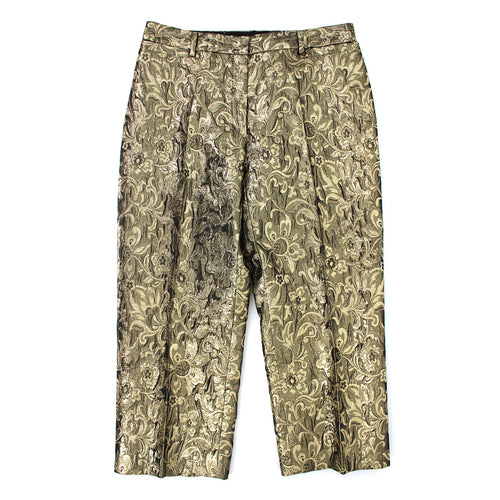 Dolce & Gabbana Floral Jacquard Trousers (Gold)