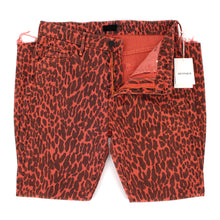 Load image into Gallery viewer, Mother The Looker High Waist Red Leopard Fray Skinny Jeans 30