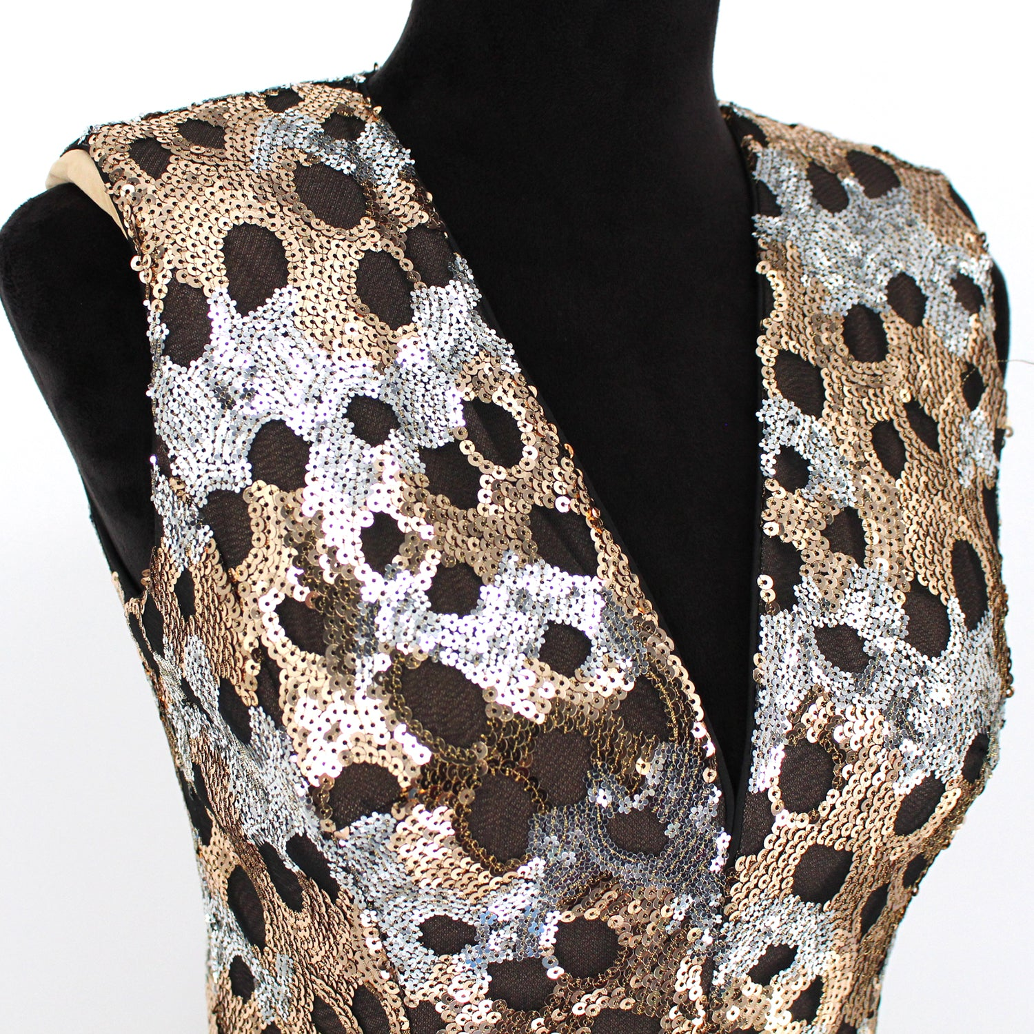 Bronx and Banco Flare Sequin Dress