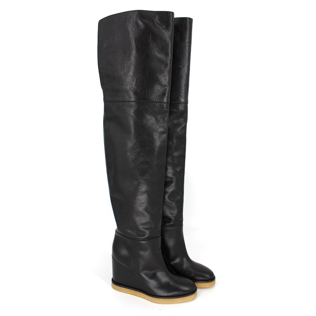 Celine Thigh High Wedge Boots