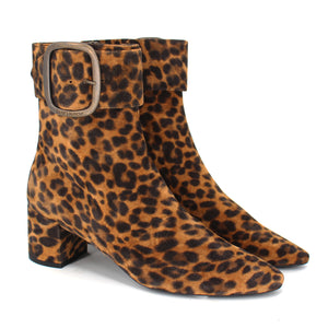 Saint Laurent Leopard Ankle Boots