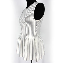 Load image into Gallery viewer, Peplum Shell Tank Striped