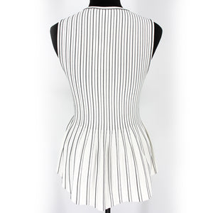 Peplum Shell Tank Striped