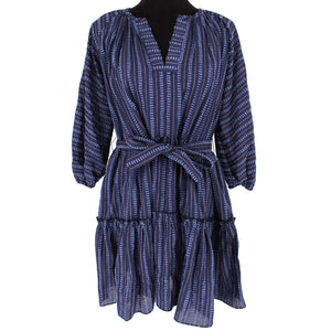 NWT Lemlem Abha Belted Mini Dress Navy Size XS