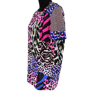 Silk Animal Print Dress