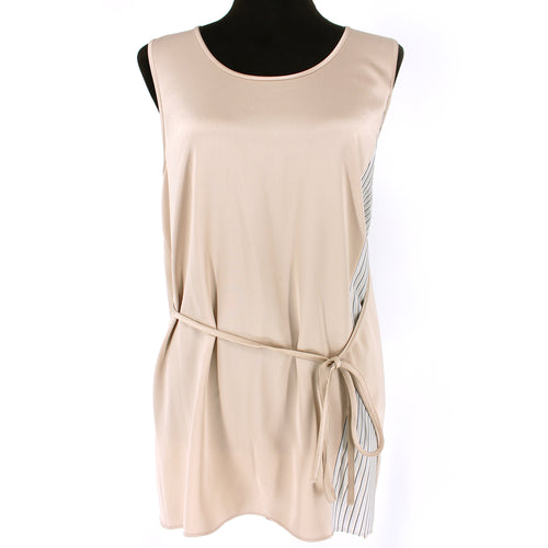 T Alexander Wang Champagne Stripe Sleeveless Tank Top
