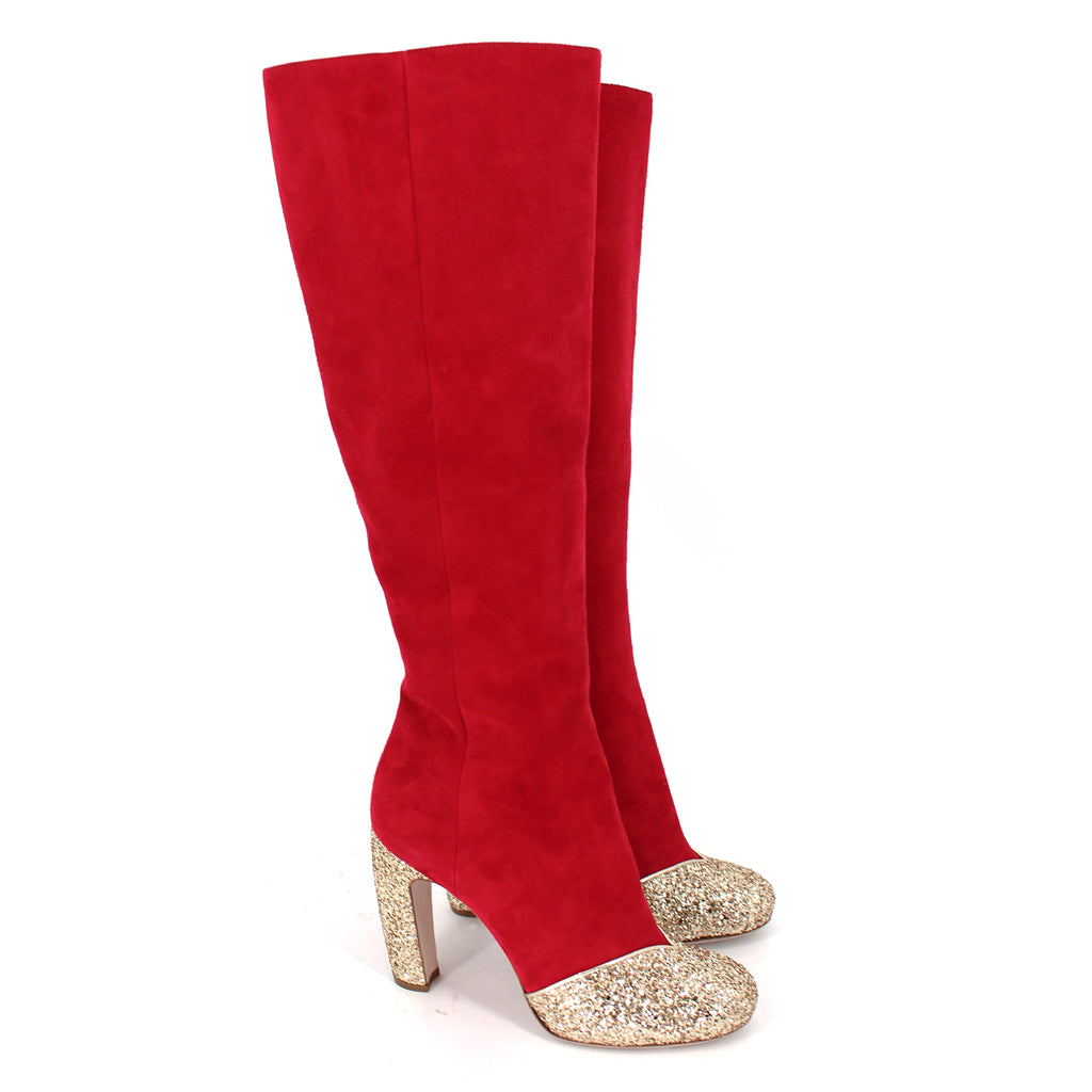 Miu Miu Suede Knee High Boots