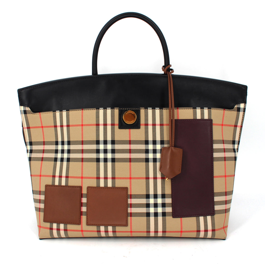 Burberry Society Check Canvas Bag