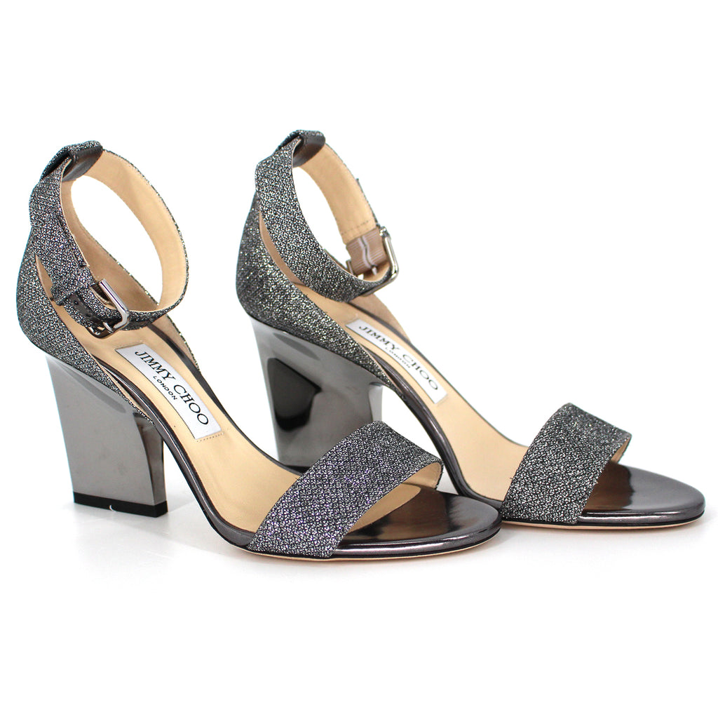 Jimmy Choo EDINA Glitter Sandals