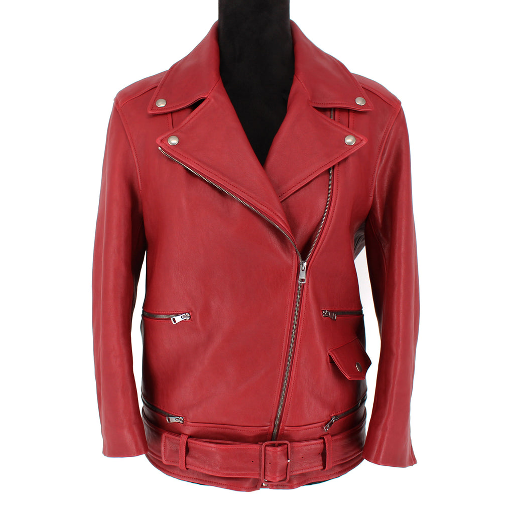Gucci Leather Biker Asymmetrical Jacket