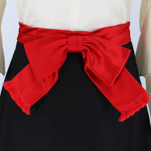 Gucci Red Bow Ruffle Gown