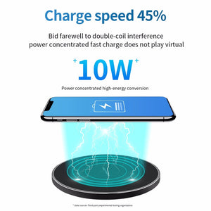 10W Wireless Charger LED Breathing Light