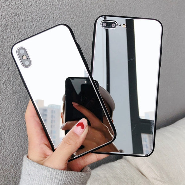 Luxury Full Mirror Silicone Case for iphone
