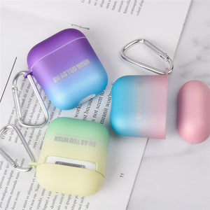 Hard Silicone Case for Change in Color simplicity For Apple Airpods