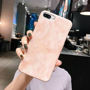 Painting Artistic Marble Texture Phone Case For iPhone
