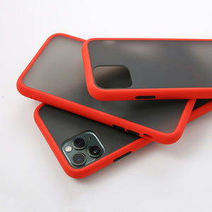 Luxury Contrast Color Frame Matte Hard PC Protective For iPhone 11 Case