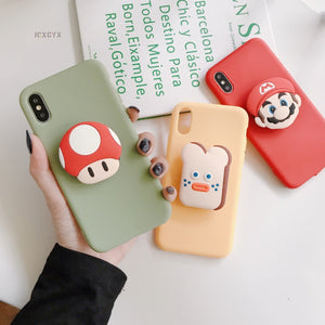 3D Drink Biscuits cute Soft phone case for iphone