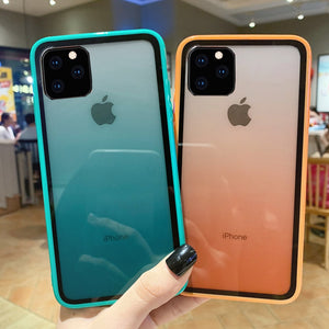 Luxury Transparent Gradient Phone cases