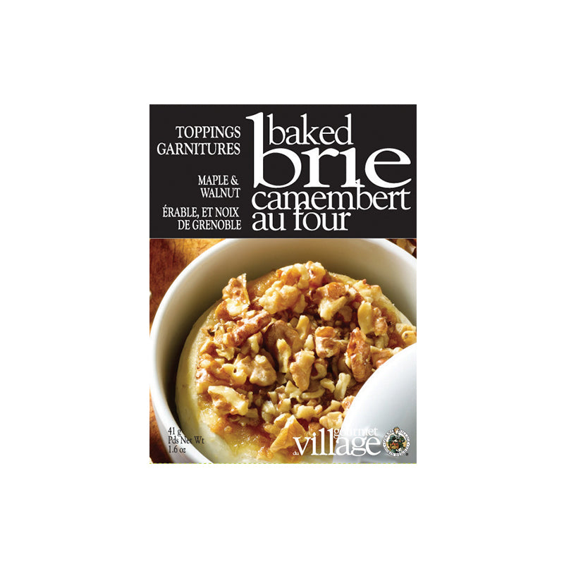 Gourmet du Village - Baked Brie Maple & Walnut Toppings