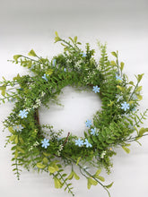 Load image into Gallery viewer, Blue Flower Wreath
