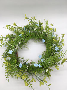 Blue Flower Wreath