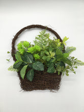 Load image into Gallery viewer, Succulent faux Basket Wreath
