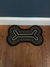 "Load image into Gallery viewer, Dog Bone Braided Rug 13"" x 22"""