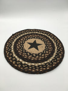 Chair Pad Round Mocha/Frapp Black Star
