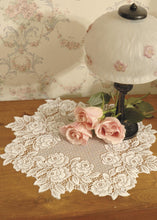 "Load image into Gallery viewer, Tea Rose 15"" Doily - White"