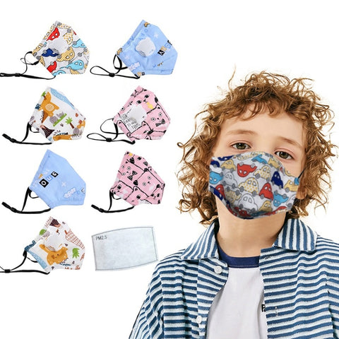 Reusable face kids mask with filter - vensazia