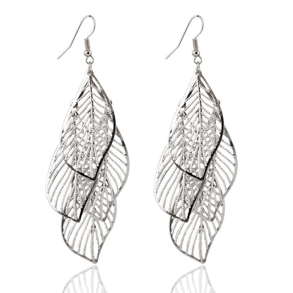 Oralie Hollow Flower Leaf Earrings  For Women - vensazia