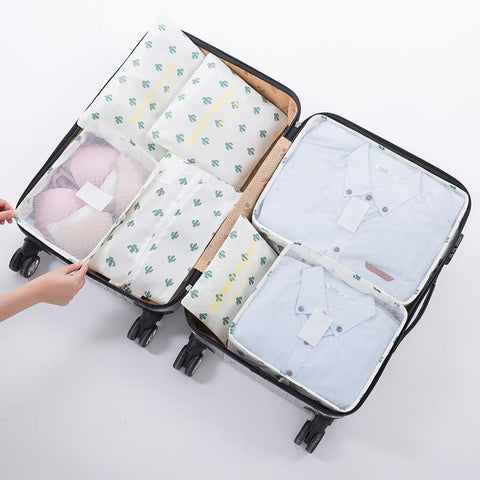 variant:: -- Packing Cubes 7 Pcs Travel & Toiletry Luggage Organizers Set