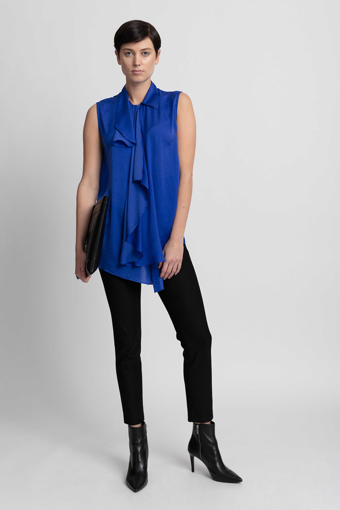 Essential Work Blouse - Cobalt