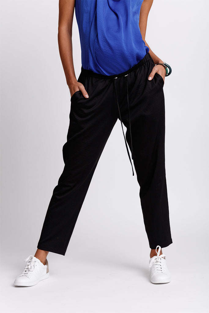 Drawstring Jogger Pants - Black