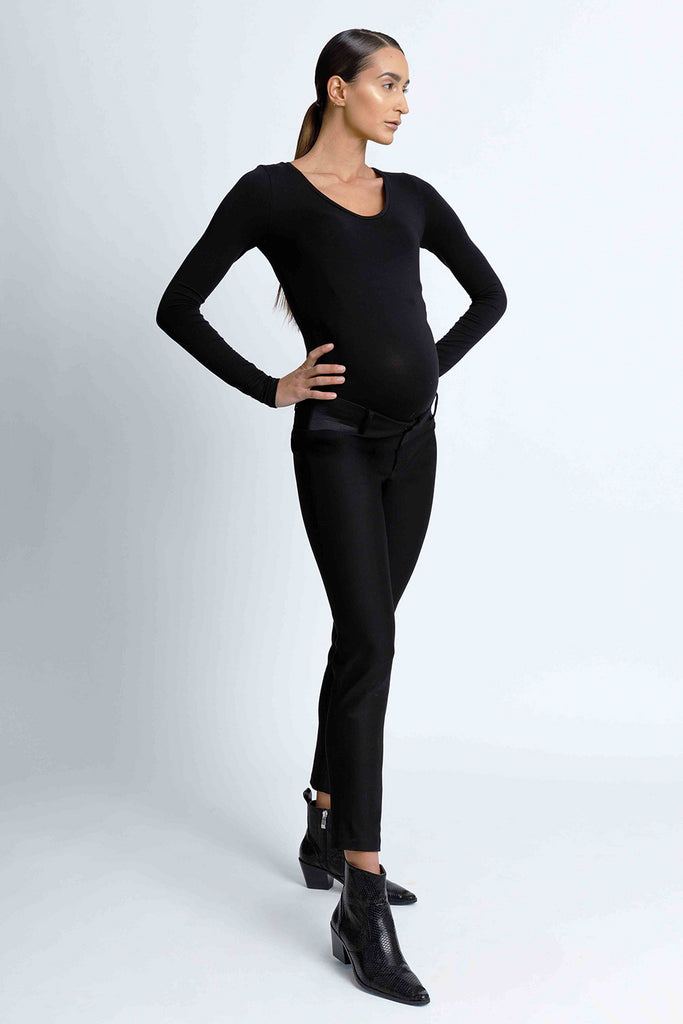 Slimming Black Work Pants