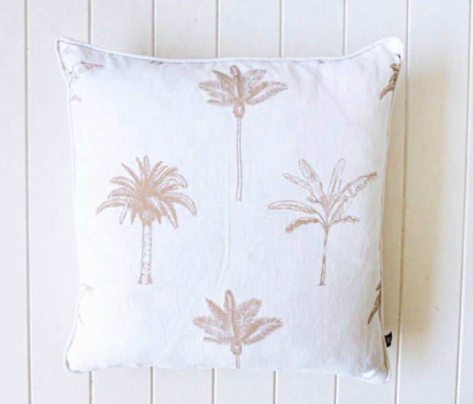 LINEN PALM TREE CUSHION
