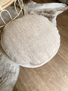RAW COTTON FLOOR CUSHION