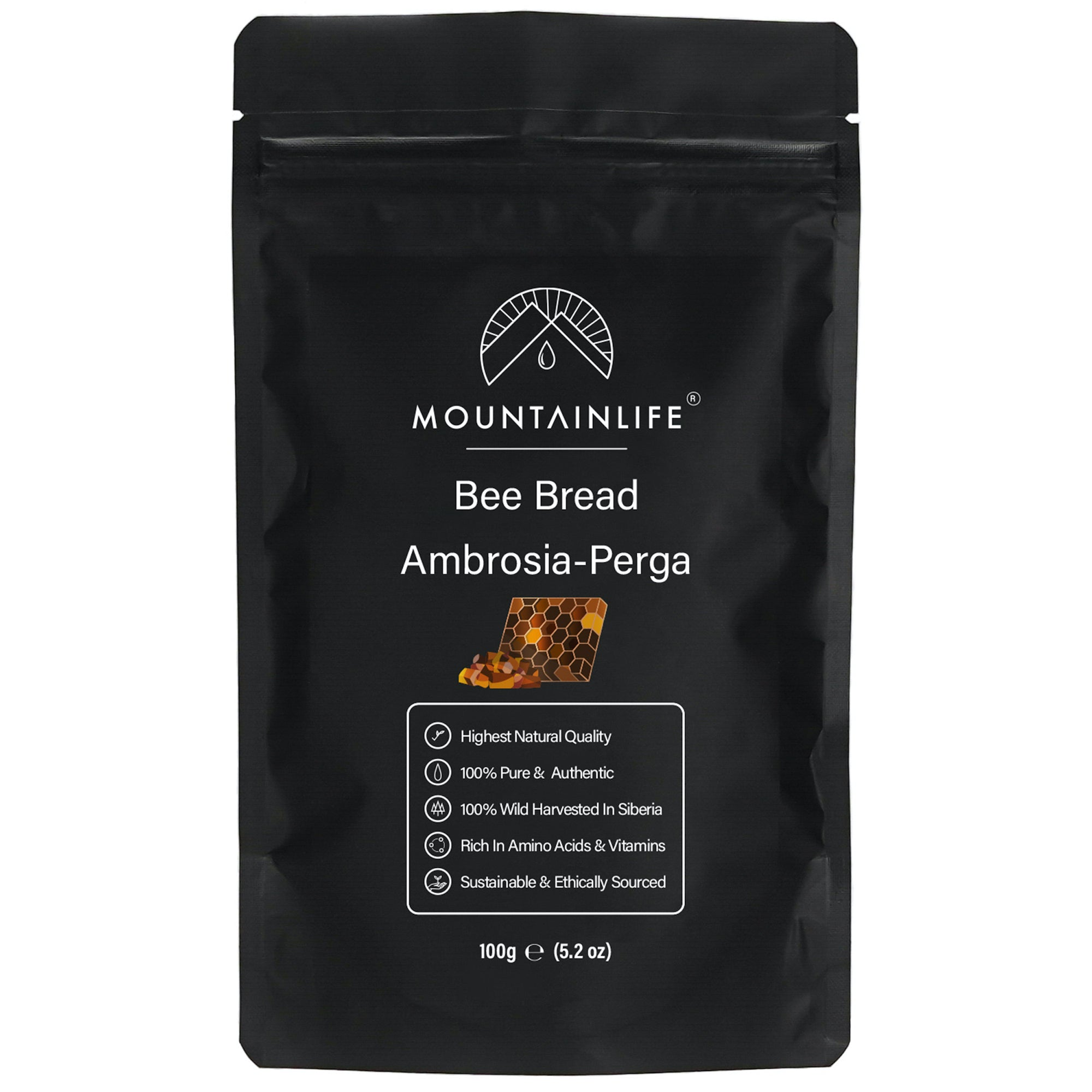 Mountainlife health Bee Bread Ambrosia/Perga 100g food supplement pouch