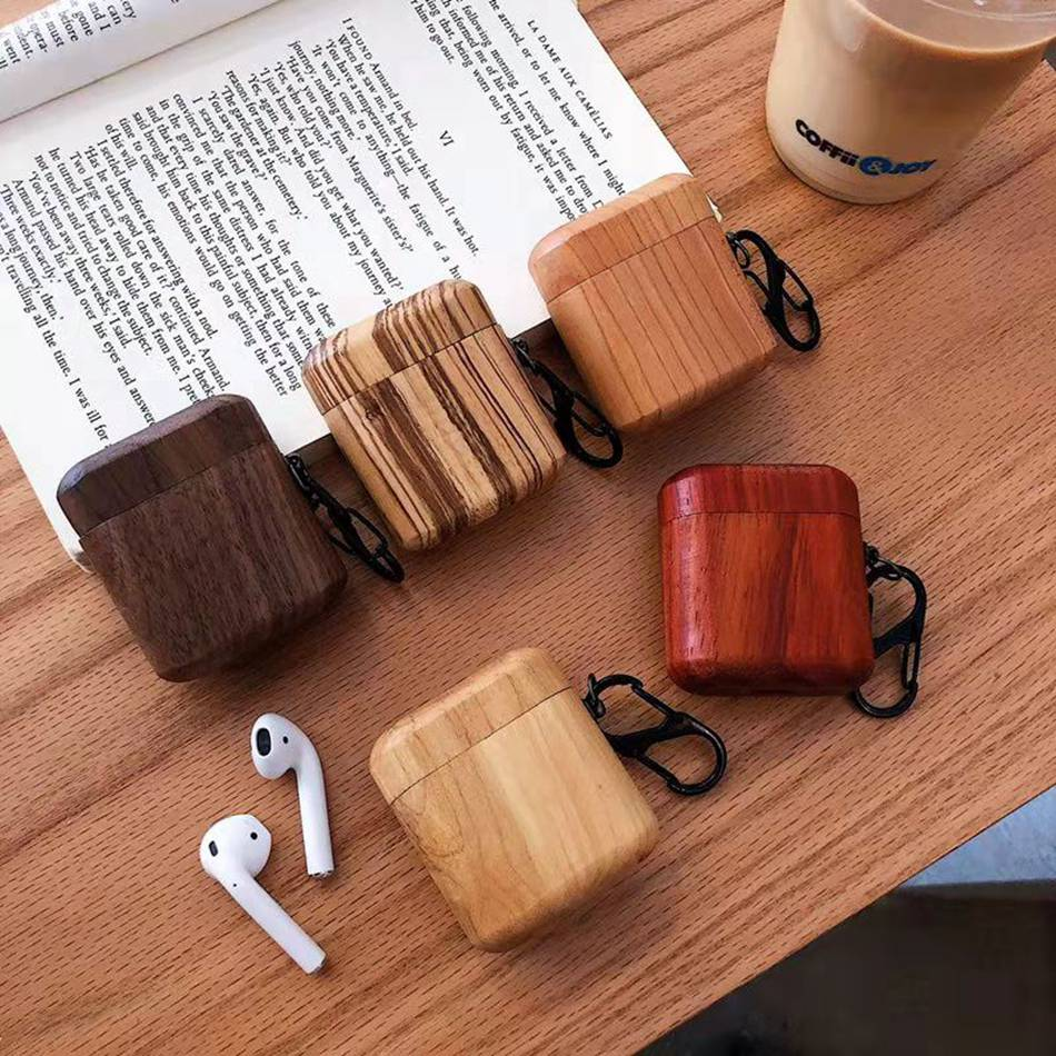 Bluetooth Wireless Wood Earphone Case
