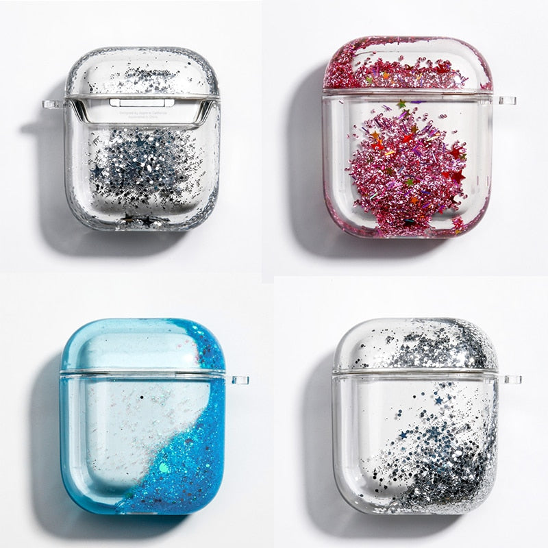 Dynamic Liquid Glitter Case For AirPods Cases