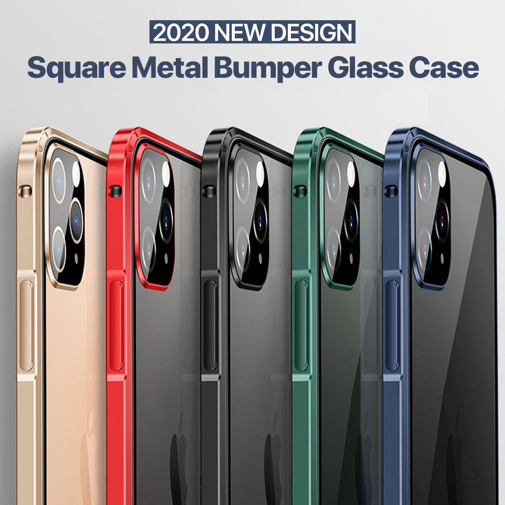 Luxury Square Metal Aluminum Bumper Case
