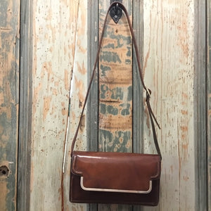 DDV 70s handcrafted italian structured shoulder bag