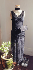M EXQUISITE Preloved Anna Sui sequinned flapper dress S