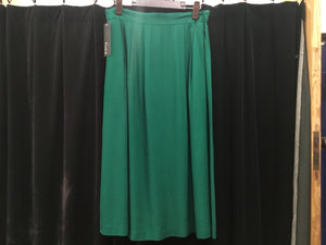V Vintage green gables midi skirt M/L